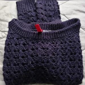 Navy crop wool blend sweater | H&M